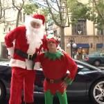 ★メリークリスマス★ランボルギーニに乗ったワイルドサンタが登場