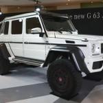 ごついヤン車!!メルセデスベンツ究極のオフロードG63AMG6×6が限定5台で8000万円で受注開始!