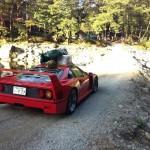1億円の愛車フェラーリF40でアウトドアキャンプをするDQNなヤンキーが日本にいた!!エンジンルームで目玉焼き!